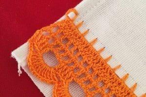 Como tejer orillas de servilletas de 2 vueltas