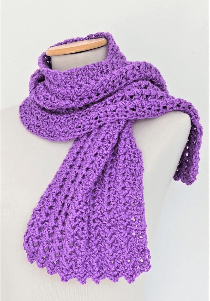 como tejer bufanda a crochet con ganchillo de 4.5 mm