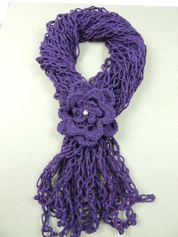 bufanda a crochet paso a  paso
