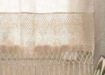 2 modelos de cortinas de lienzo y crochet