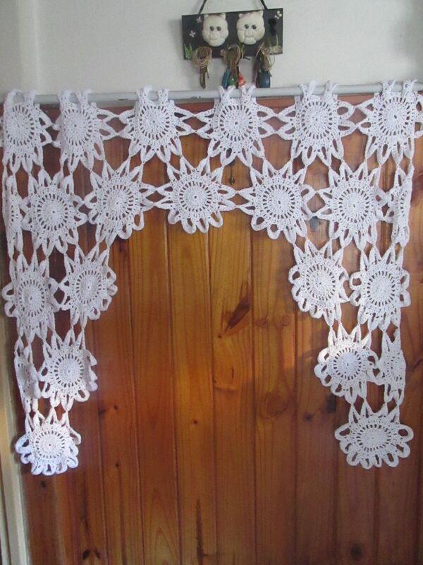 cortinas tejidas a crochet paso a paso