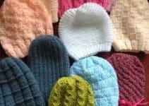 Gorros de bebe a crochet de 0 a 3 meses