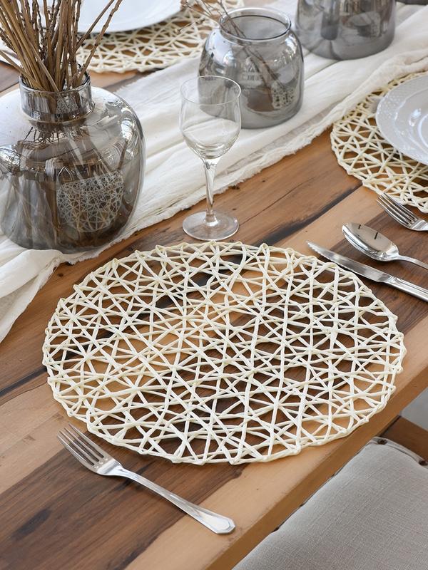 Individuales de mesa redondos y minimalistas