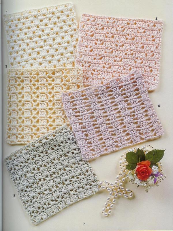 motivos para manteles tejidos a crochet cuadrados