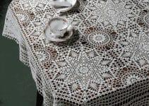 3 motivos para manteles tejidos a crochet cuadrados