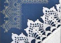 2 ideas de orillas tejidas a crochet para manteles