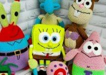 Bob esponja tejido a crochet en 2 partes