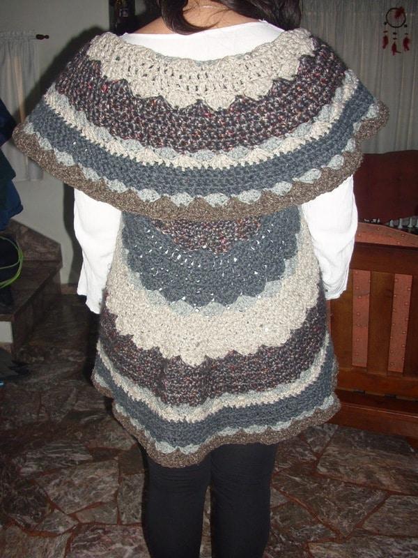 chaleco tejido a crochet moderno