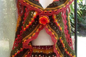 2 patrones de chaleco circular a crochet
