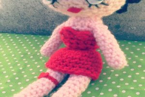 95 años de Betty boop tejida a crochet