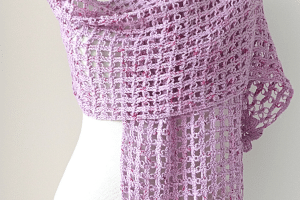 Estolas tejidas a crochet  de 110 cm