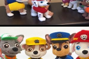 1 personaje de paw patrol tejido a crochet