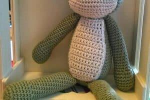 Rana tejida a crochet en 3 partes