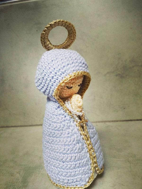 virgen a crochet paso a paso